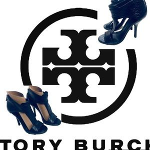 Tory Burch Stiletto Retro Mod Style Pump Leather